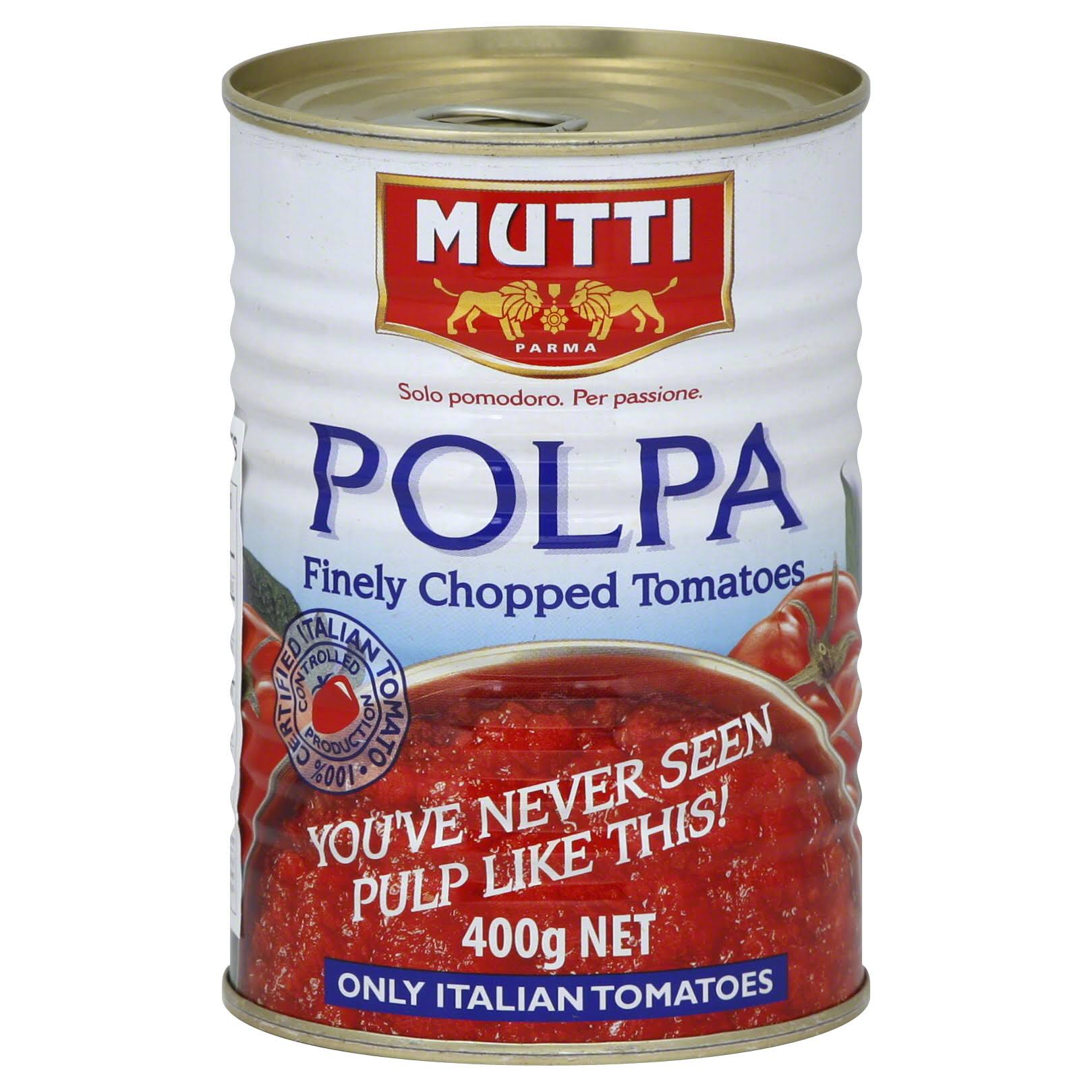 Mutti Finely Chopped Tomatoes - Polpa, 14oz, Pack of 12