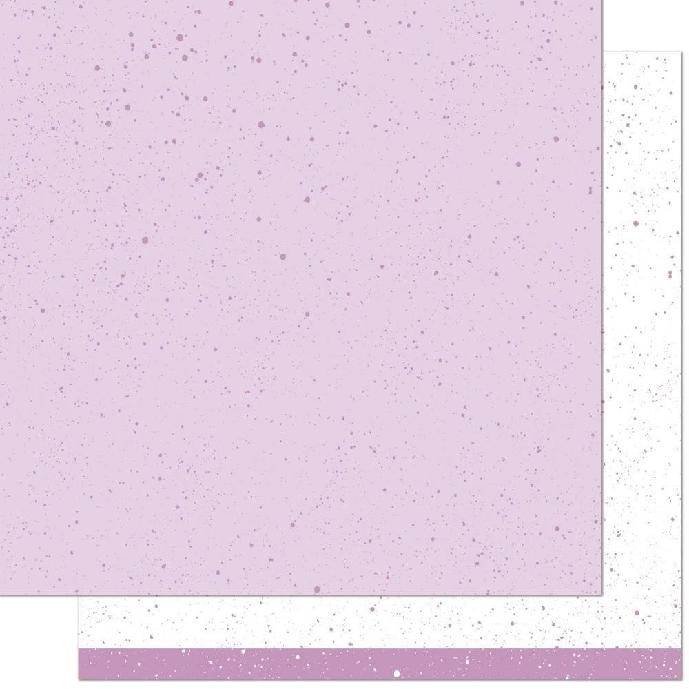 Lawn Fawn Spiffy Speckles 12x12 Paper- Blueberry Smoothie
