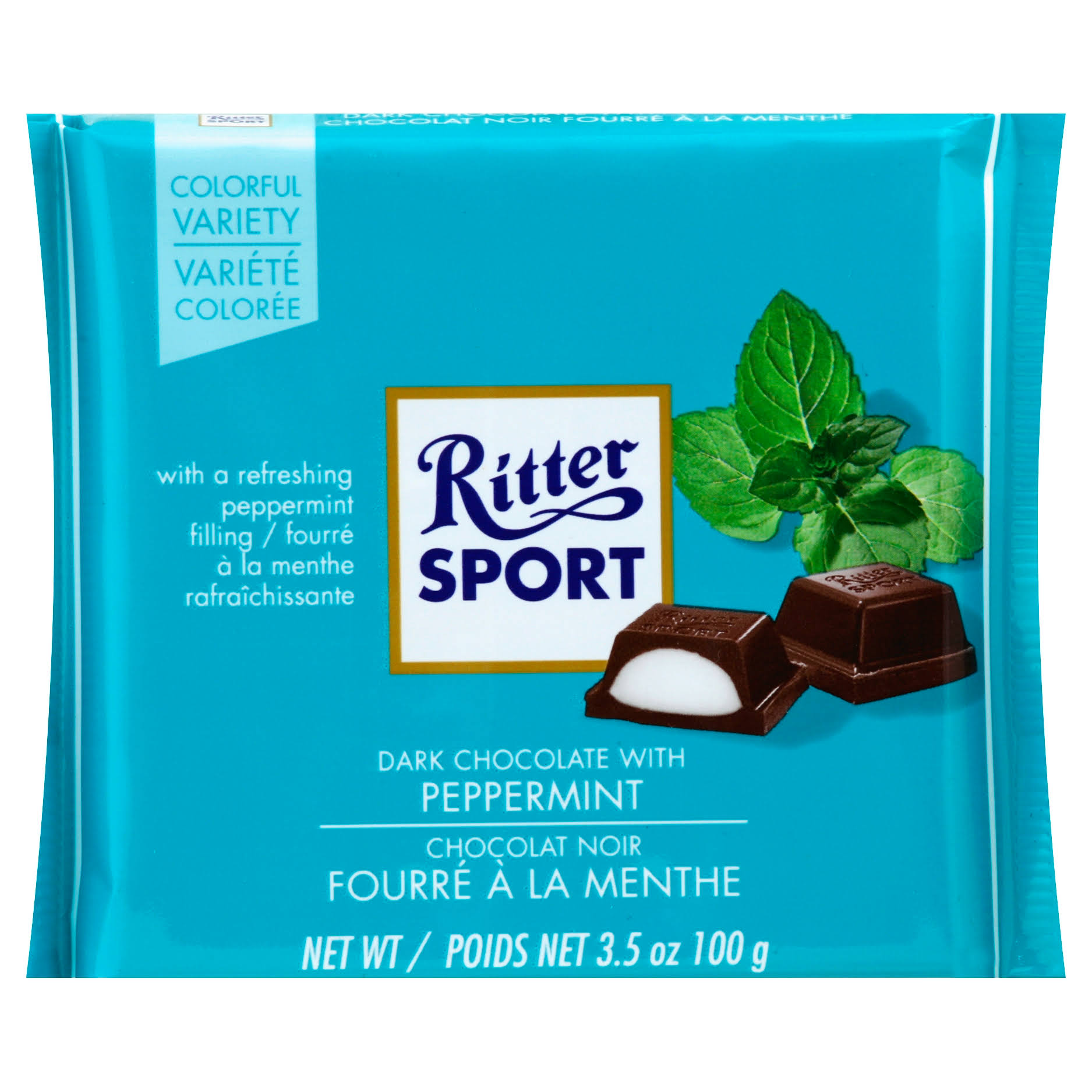Ritter Sport Dark Chocolate with Peppermint Bar