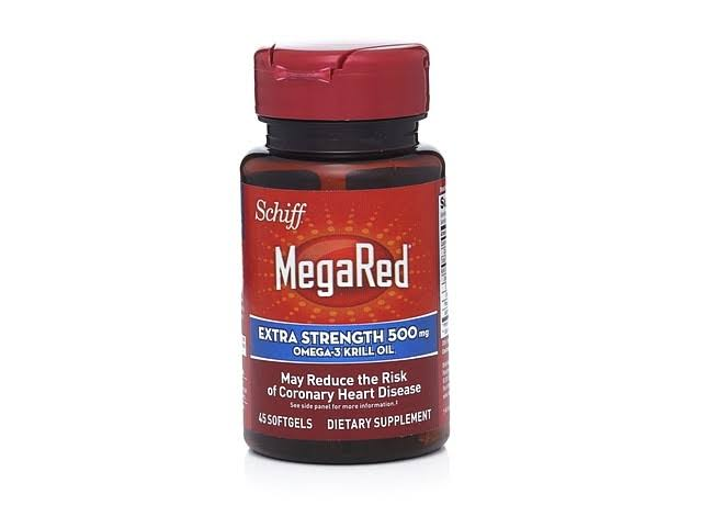 Schiff Megared Extra Strength Pure Omega 3 Krill Oil Supplement - 500 mg, 45 Count