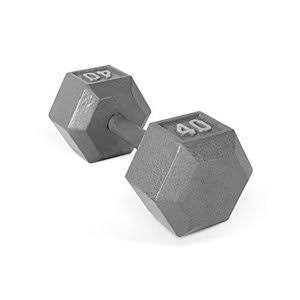 Cap Barbell Solid Hex Dumbbell - 40lbs