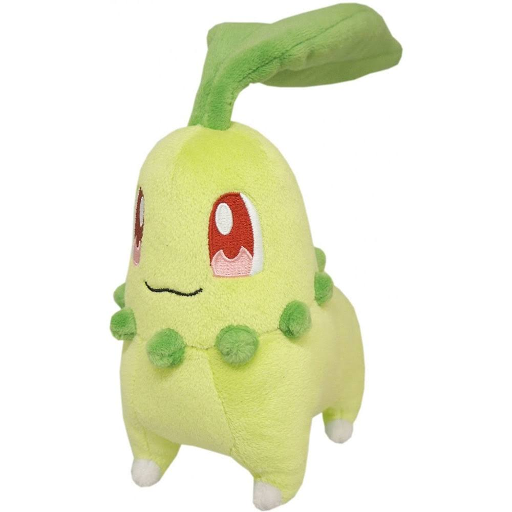 Sanei Pokemon Go All Star Collection Chikorita Plush Toy