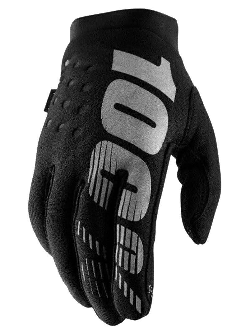 Cycling Full Finger Gloves - Black & Grey, Medium