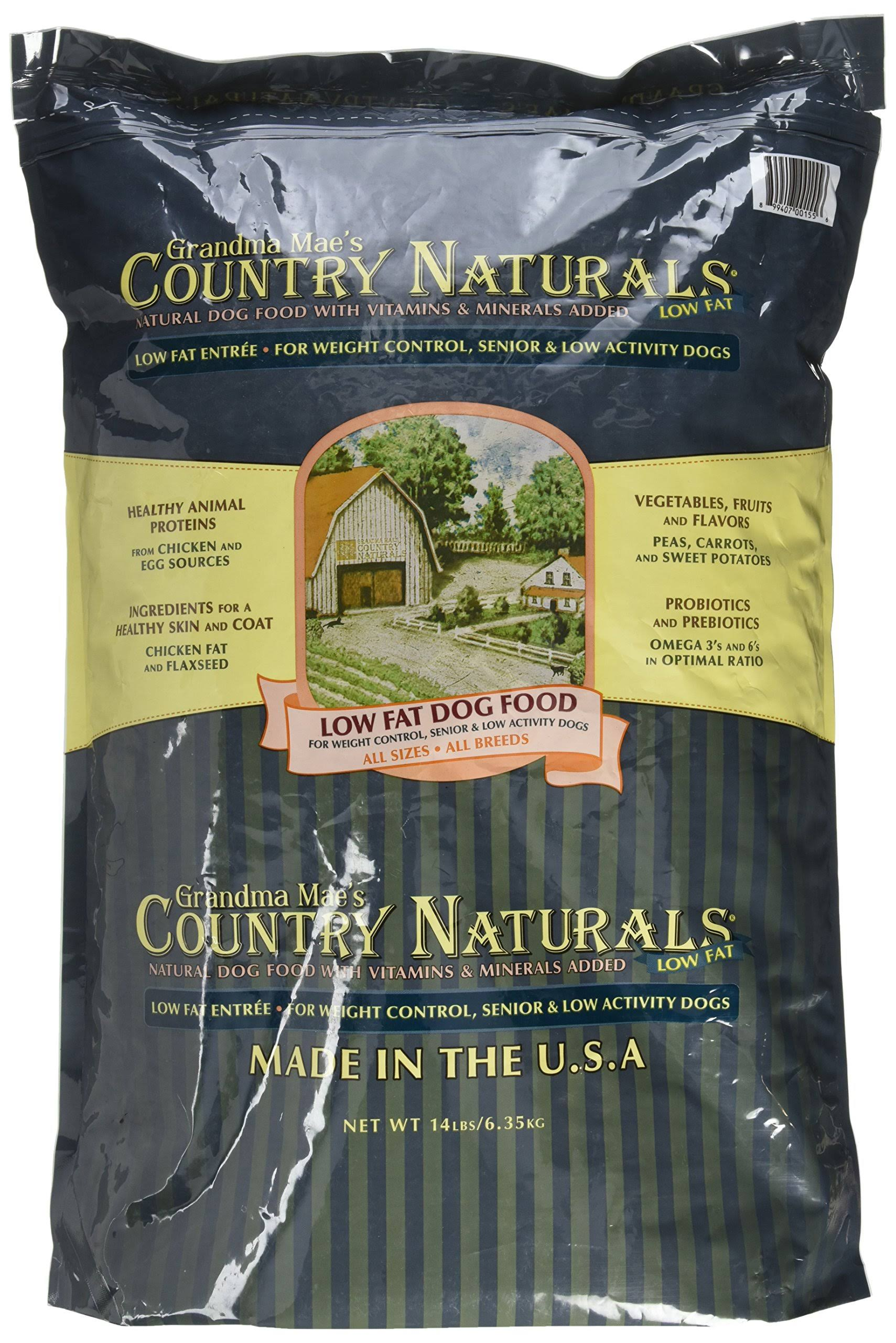Country Naturals Grandma Mae's Low Fat Dog Food - 14lbs