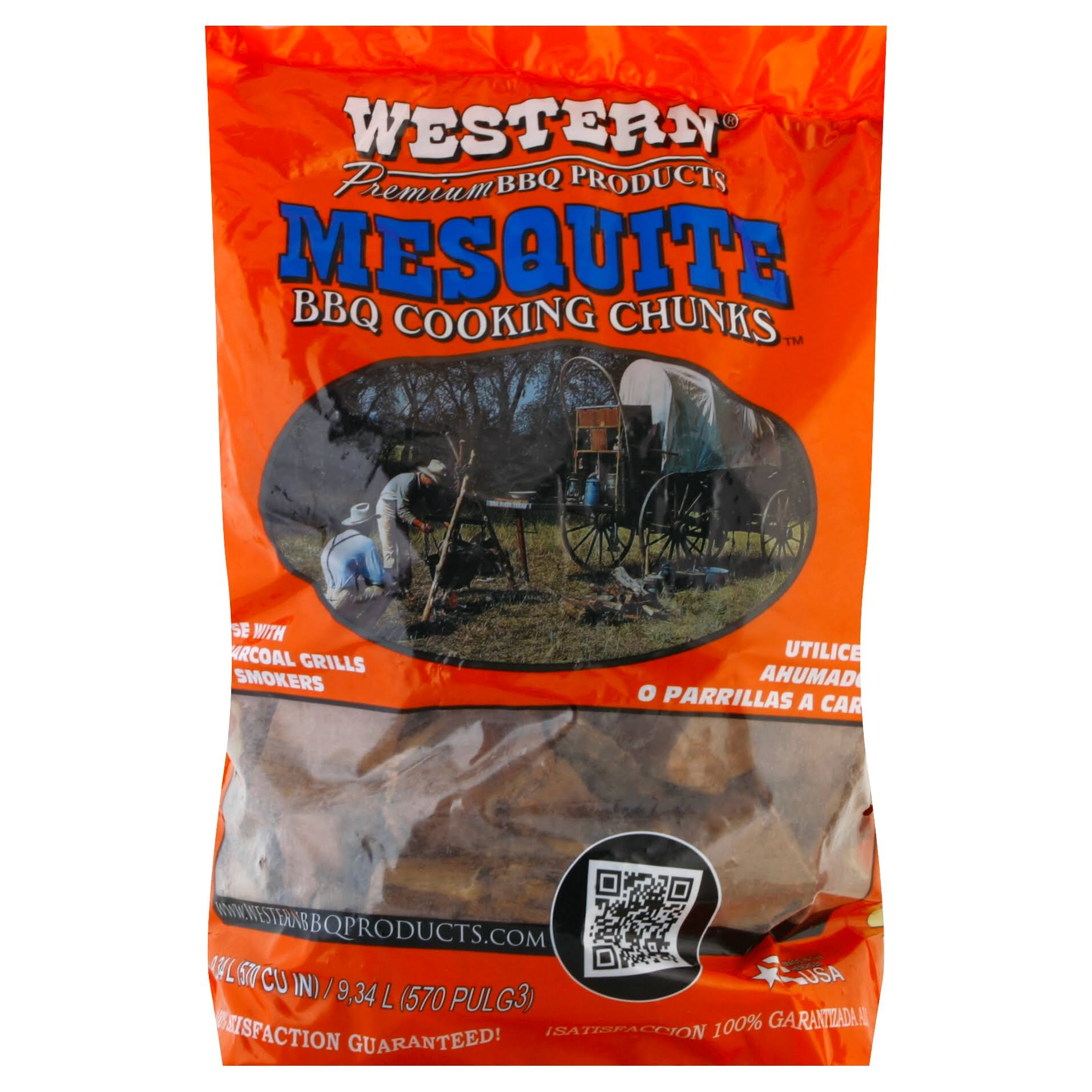 Western Mesquite BBQ Cooking Chunks - 8lbs