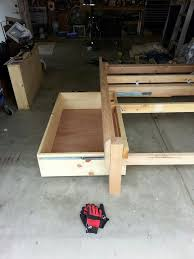 bed frames diy twin bed frame plans full size storage bed how to