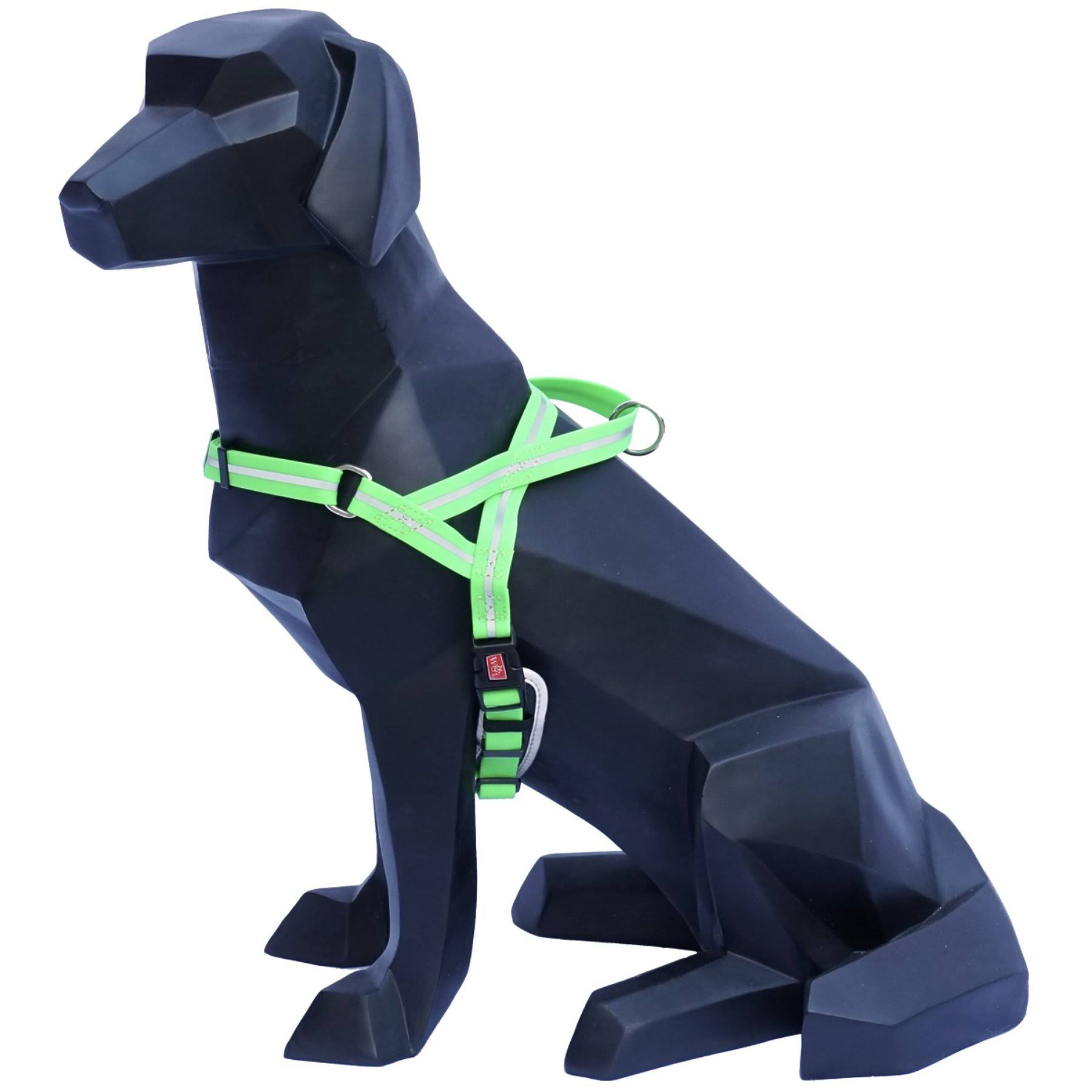 Wigzi Waterproof Reflective Padded Dog Harness Neon Green Large 154801