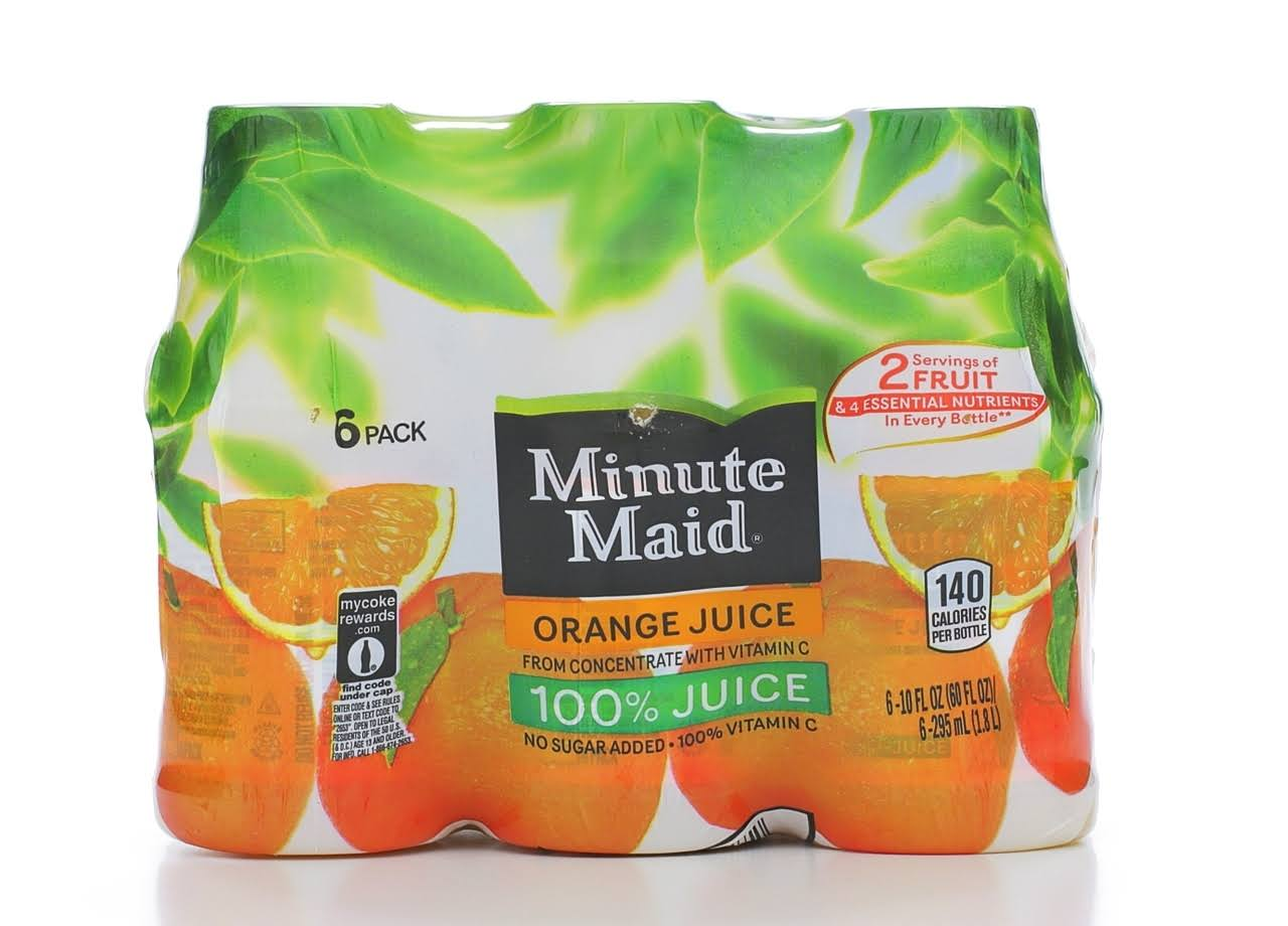 Minute Maid Orange Juice - 10oz, 6pk