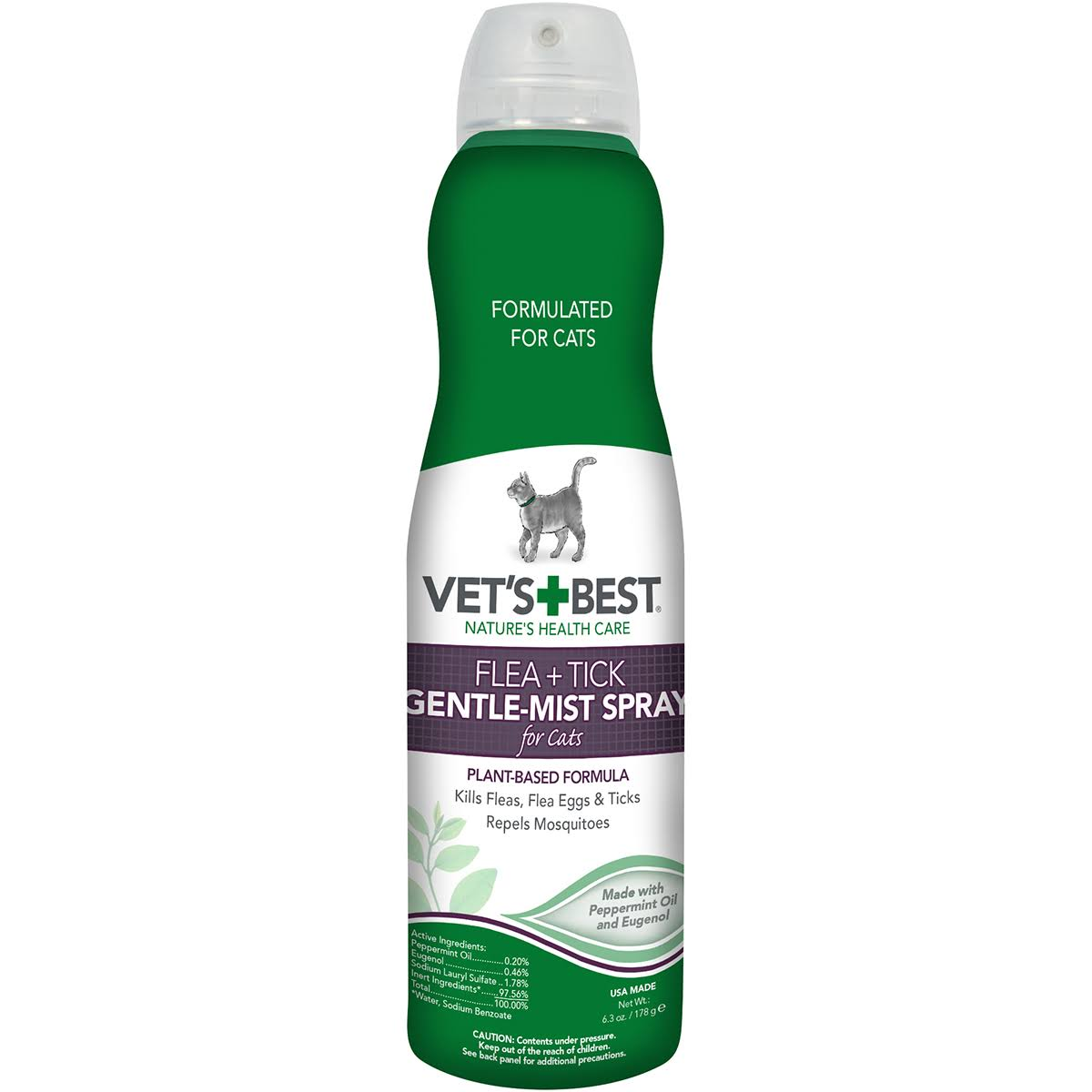Vet's Best Flea & Tick Gentle Mist Spray for Cats - 6.3 oz