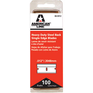 American Safety Razor 66-0412 Heavy-Duty Single Edge Razor Blades
