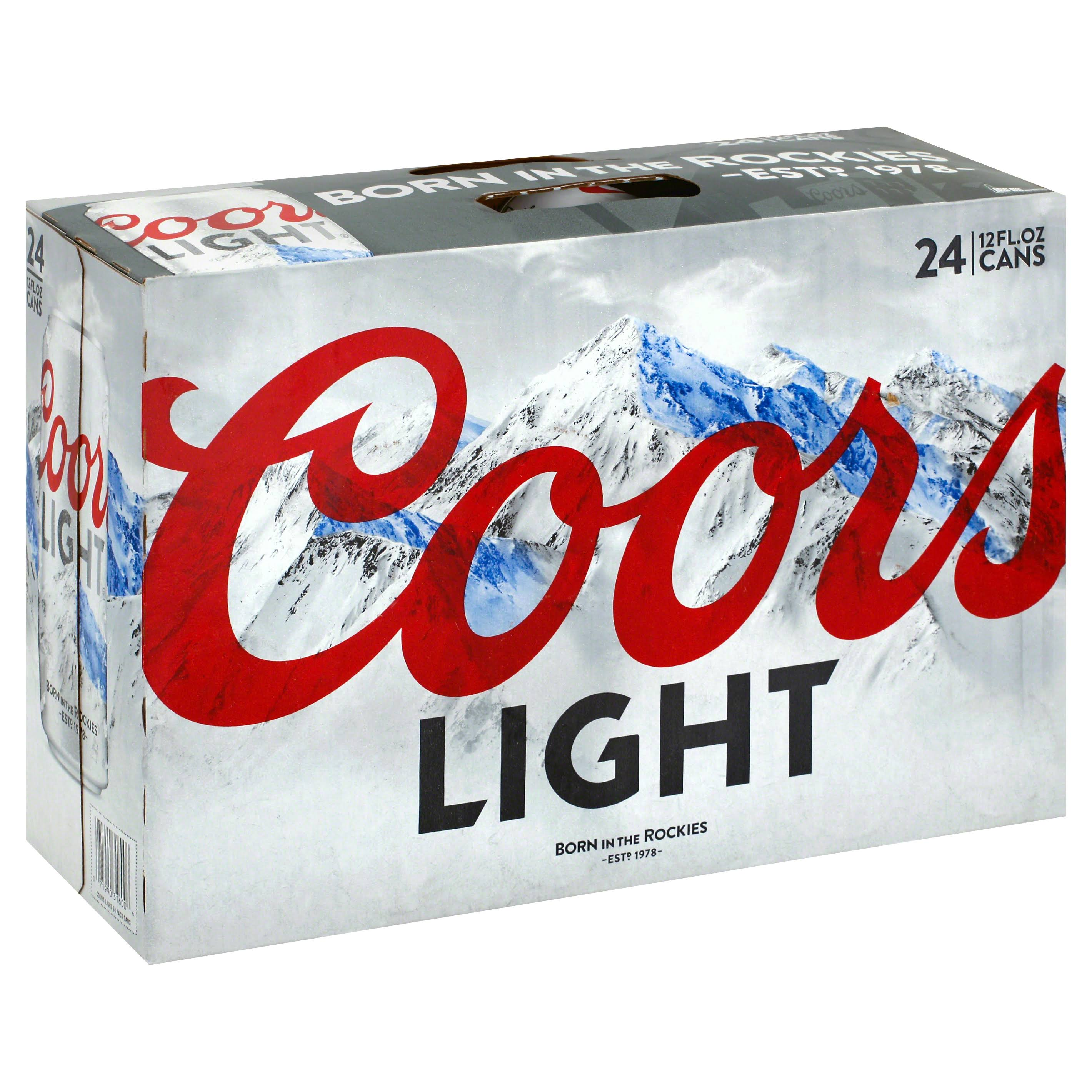 Coors Light Beer - 12oz, 24 Pack