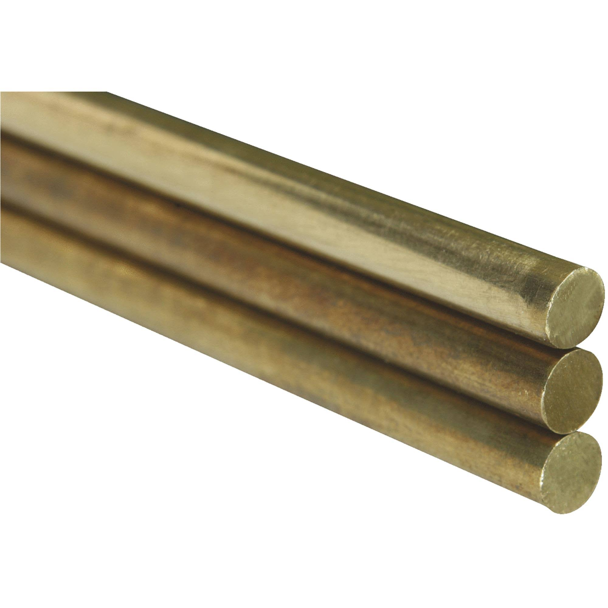 "K & S Solid Brass Rod, 1/32"" x 12"" - 5 count"