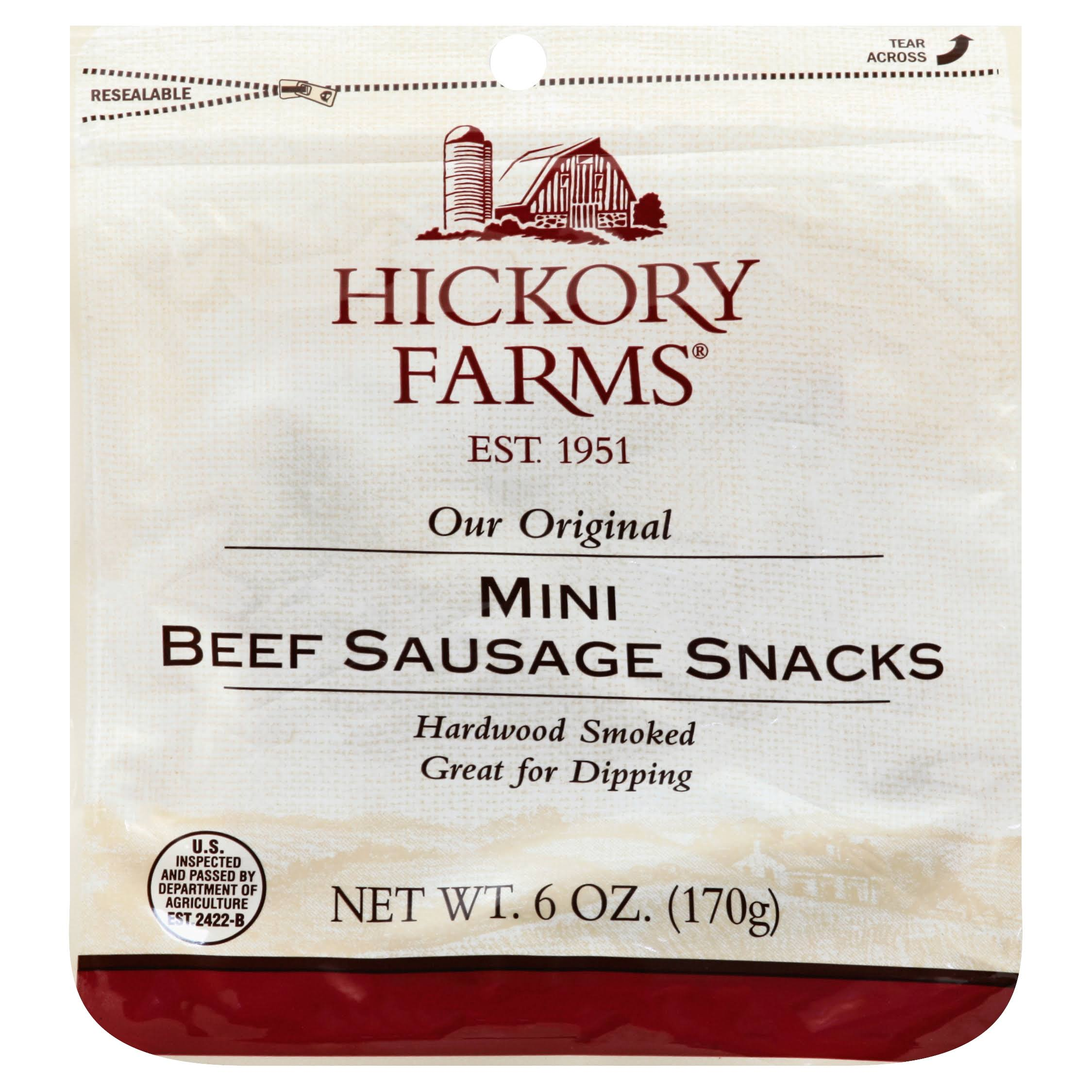 Hickory Farms Sausage Snacks, Beef, Mini - 6 oz
