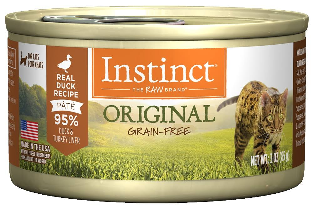Nature's Variety Grain-Free Instinct Canned Cat Food, Duck / 3 oz Case 24