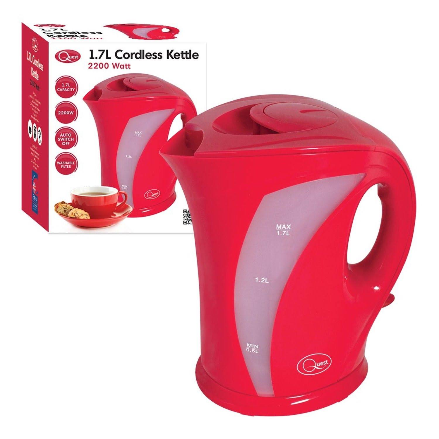 Quest Cordless Kettle - Red, 1.7l