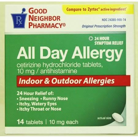 GNP All Day Allergy (10mg, 14 Tablets)