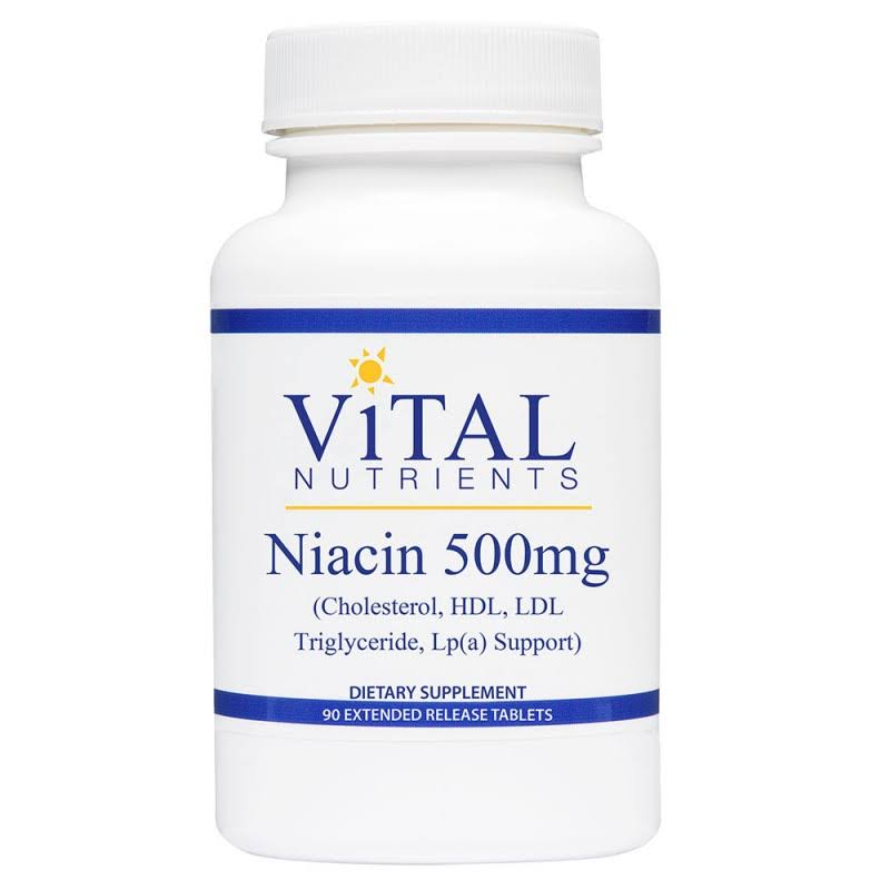 Vital Nutrients Niacin Dietary Supplement - 500mg, 90ct