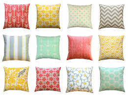 Coral Colored Decorative Items by Clearance Yellow Pillow Cover Coral Throw Pillow Mint Pillow
