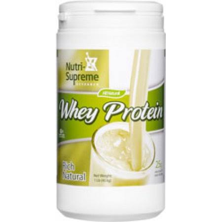 Nutri-Supreme Research Kosher Whey Protein Powder - Rich Natural Dairy Cholov Yisroel, 1lbs