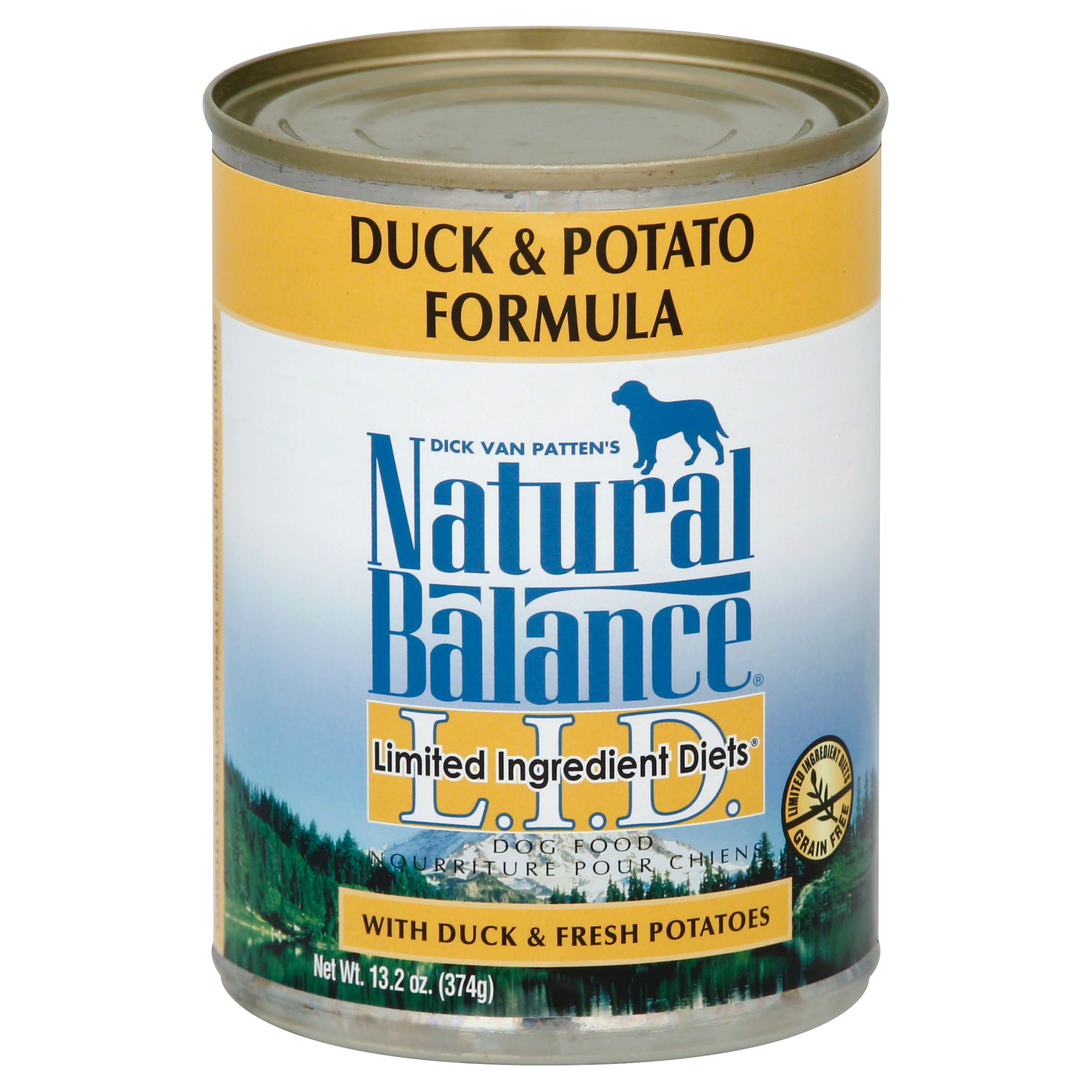 Naatural Balance Limited Ingredient Diets Dog Food - Duck And Potato Formula, 374g