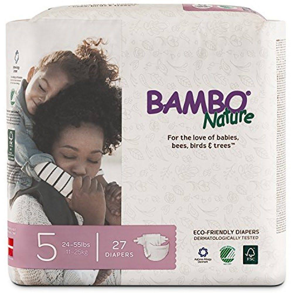 Bambo Nature Premium Baby Diapers - Size 5, 27ct