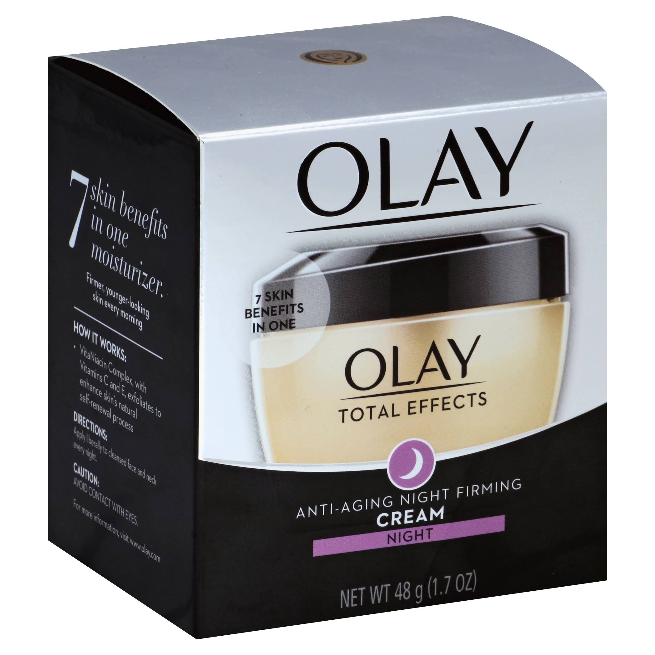 Olay Total Effects Anti Aging Night Firming Cream - 1.7oz