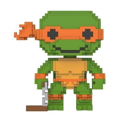 Funko Pop Teenage Mutant Ninja Turtles Vinyl Figure - Michelangelo, 8bit, 10cm