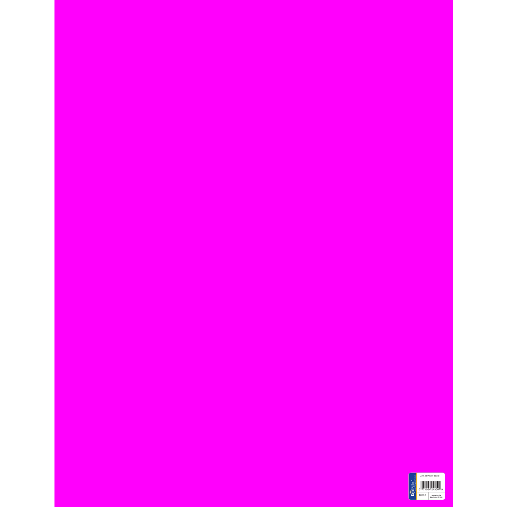 Royal Consumer Poster Board - Fluorescent Pink