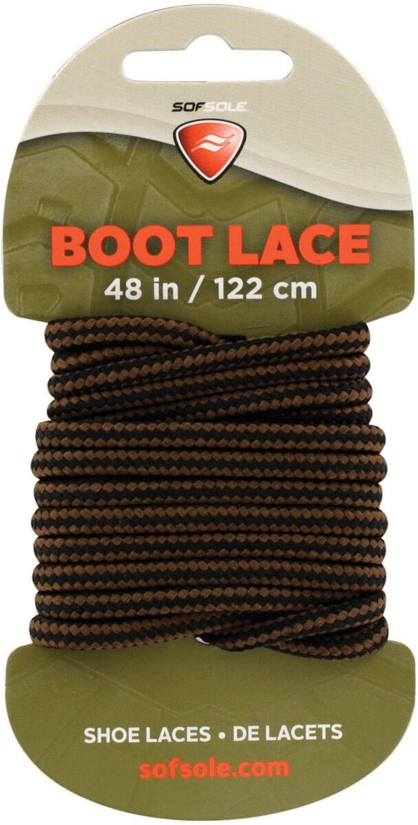 "Sof Sole 48"" Black & Brown Boot Lace"
