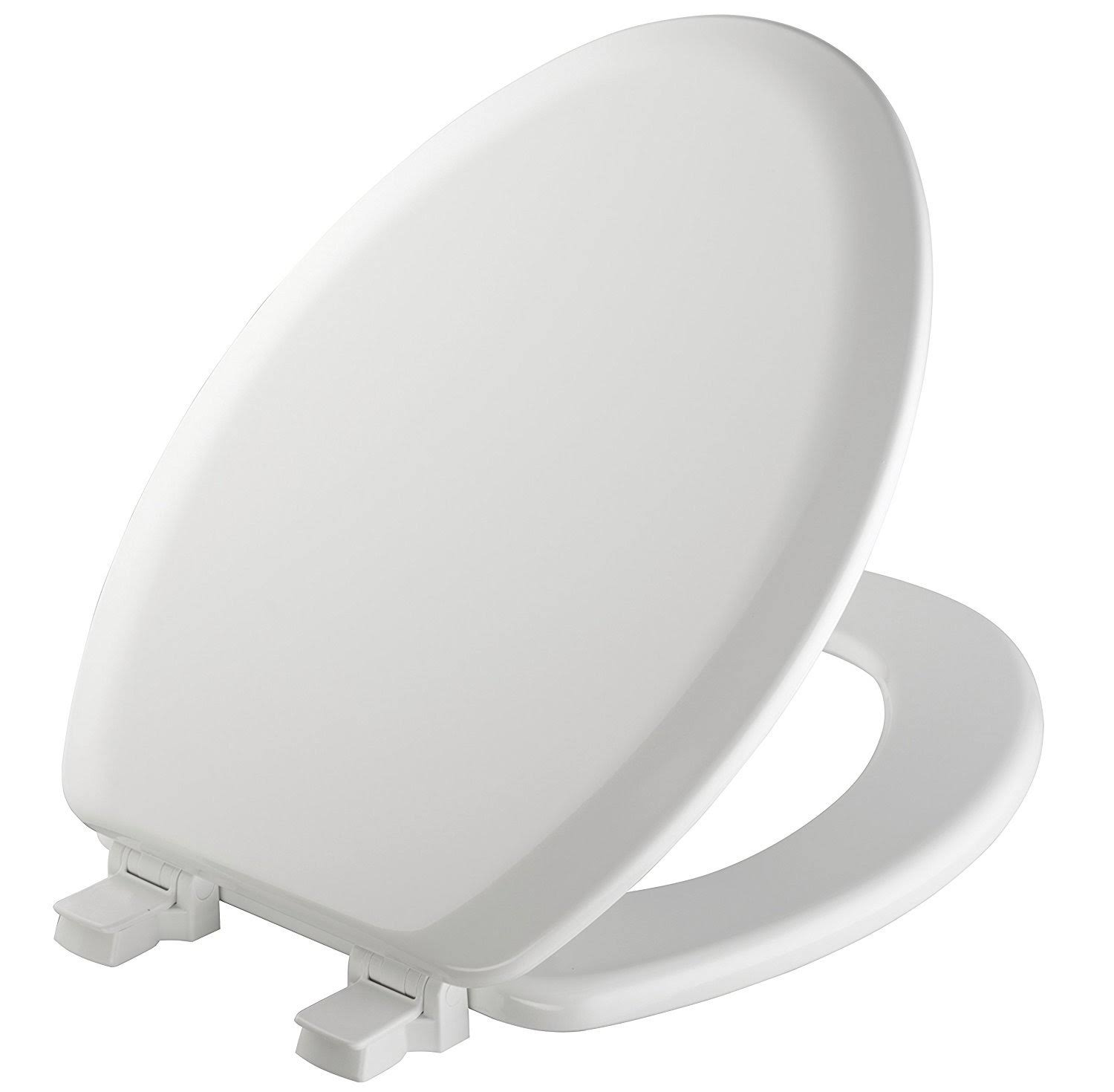 Bemis Toilet Seat - Elongated, White Wood