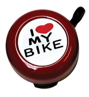 Sunlite Pyramid I Love My Bike Bicycle Bell - Red
