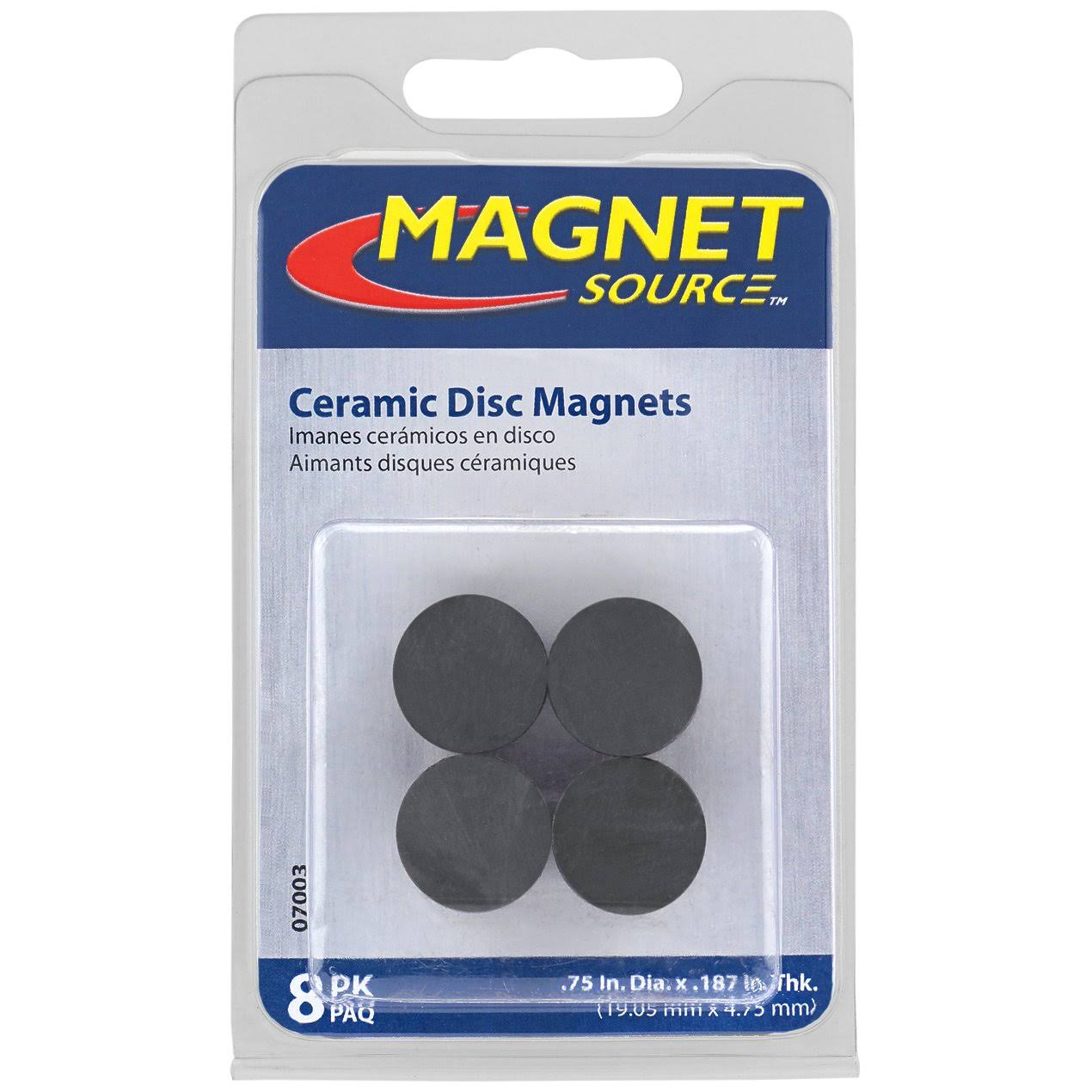 Master Magnetics Ceramic Disc Magnets - 8 Ceramic Disc Magnets