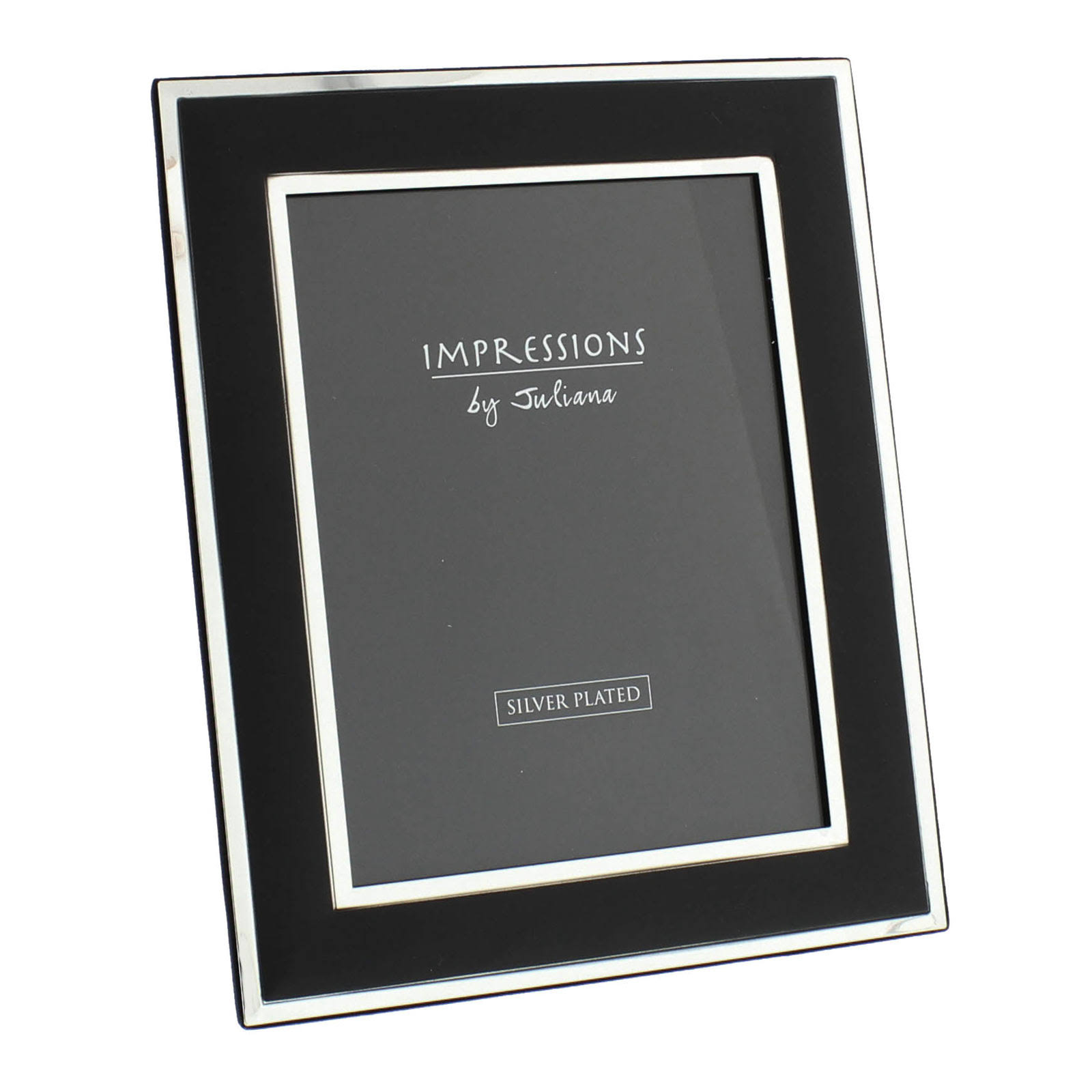 Impressions Plain Black & Silver Photo Frame - 6' x 8' - FS202P68