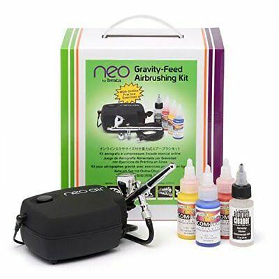 Iwata IW120 Neo Gravity-Feed Airbrushing Set