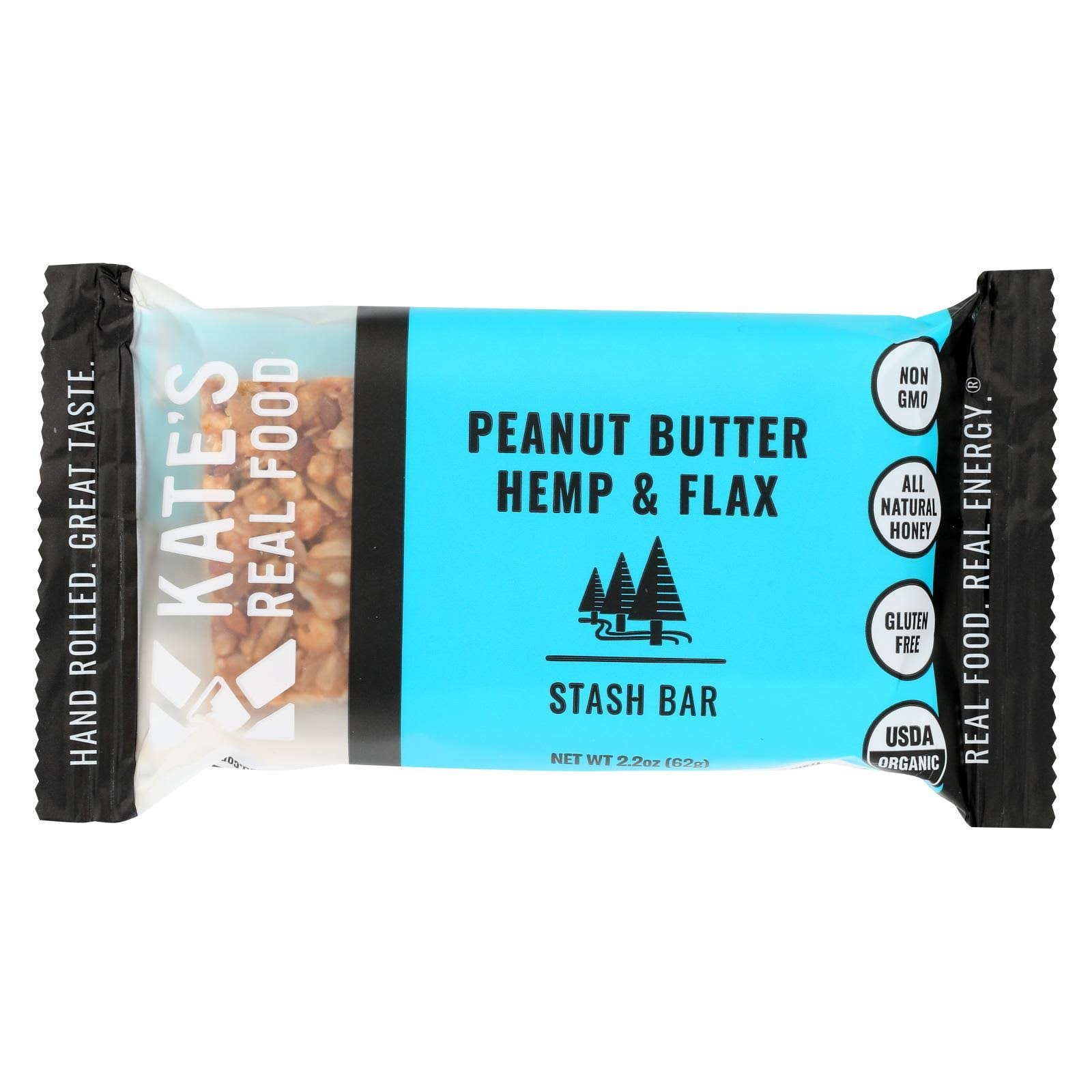 Kate's Real Food Stash Bar - Peanut Butter and Dark Chocolate, 2.2oz