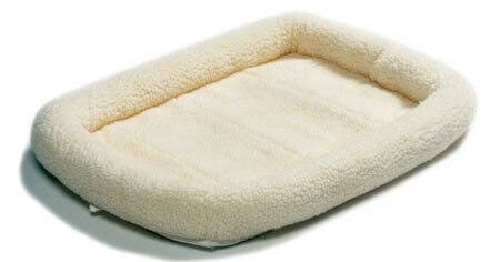 "Midwest Quiet Time Bolster Pet Dog Bed - White, 42"" x 26"""