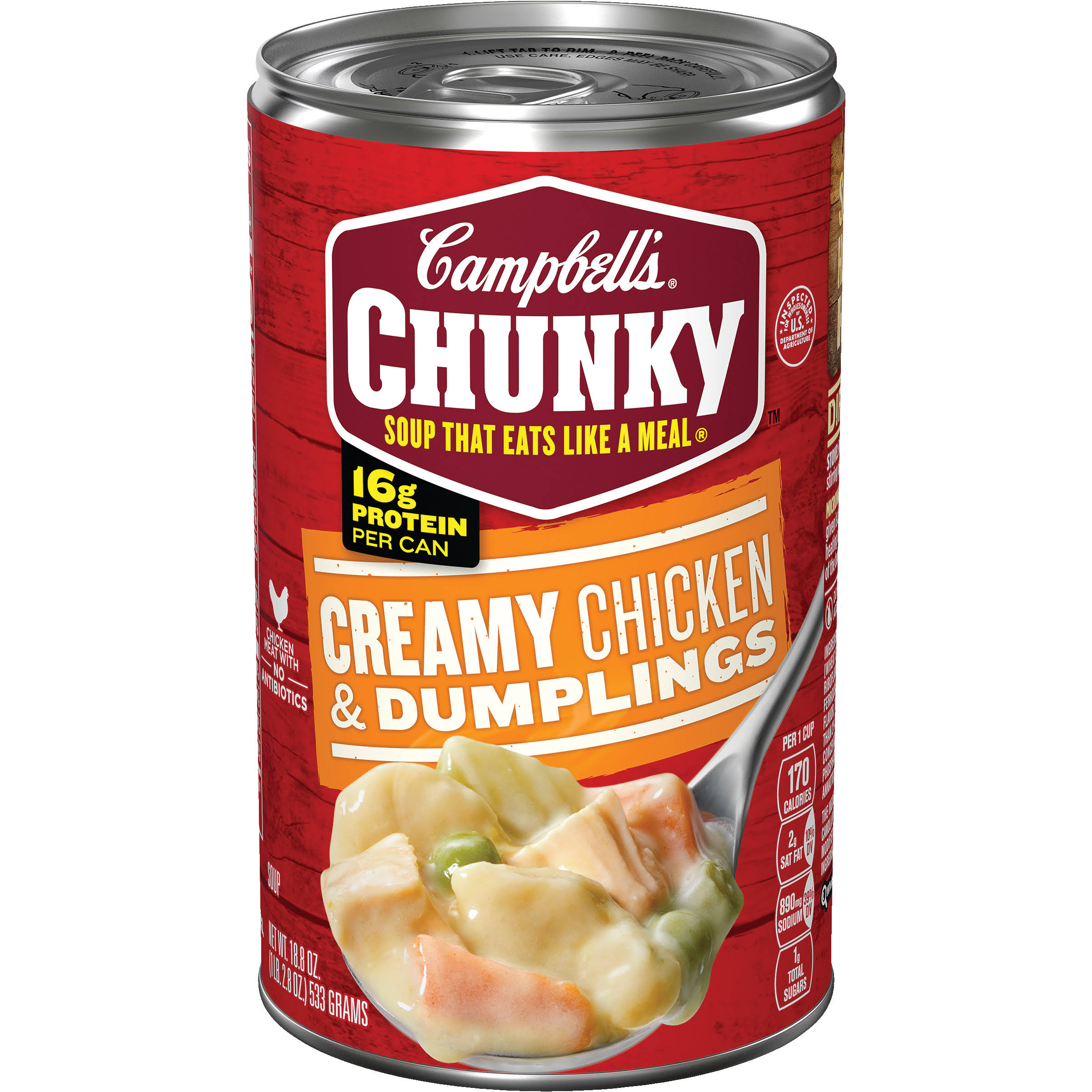Campbell's Chunky Creamy Chicken Dumplings Soup - 18.8oz