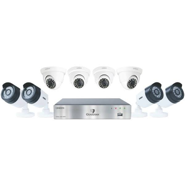 Uniden Guardian 2TB Wired DVR Security Camera System - 8 Cameras