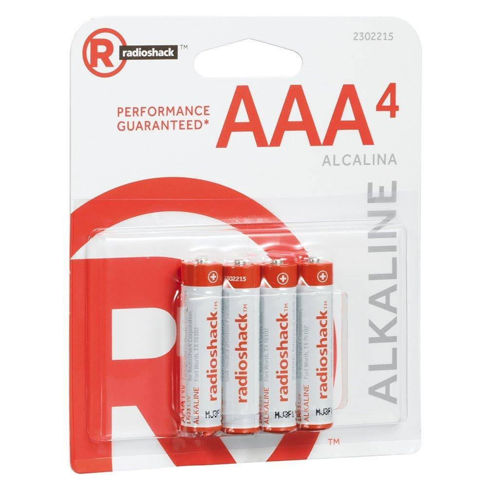 Radio Shack AAA Alkaline Batteries - 4pk