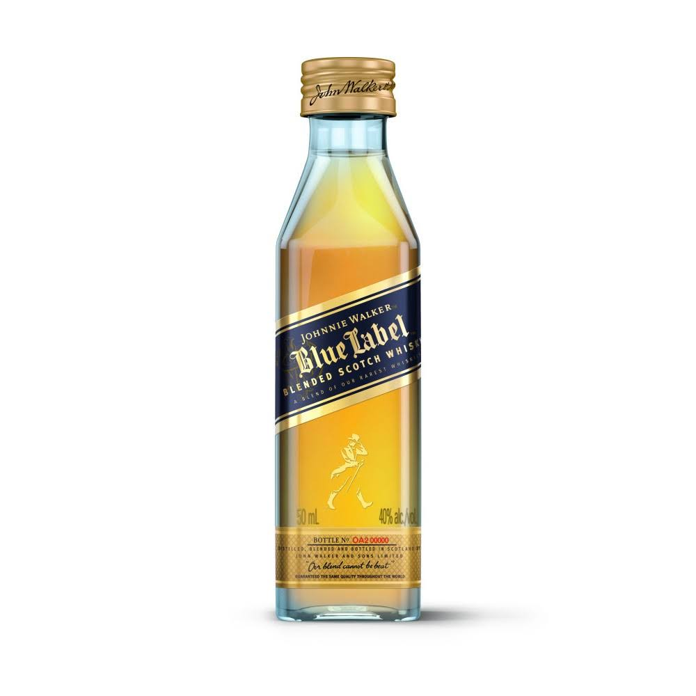 Johnnie Walker Whisky, Scotch, Blended, Blue Label - 50 ml