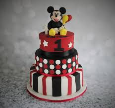 Mickey Mouse Flip Open Sofa Uk by 2 Tier Mickey Mouse Cake With Ears And Polka Dots In Red And Gold