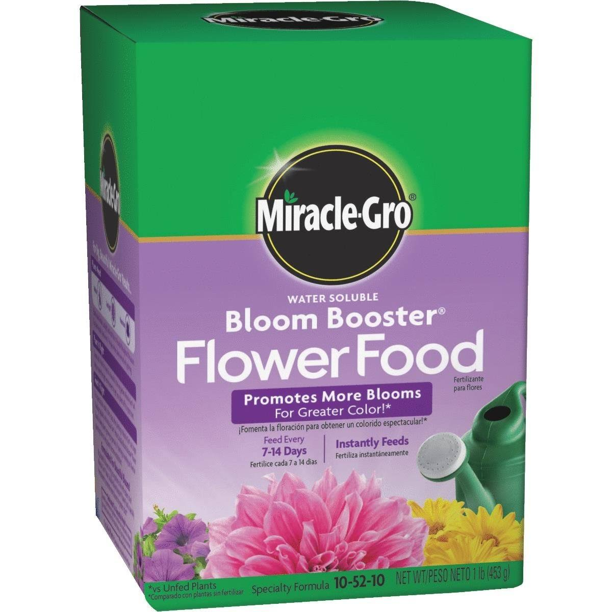 Miracle Gro Water Soluble Bloom Booster Flower Food - 1lb
