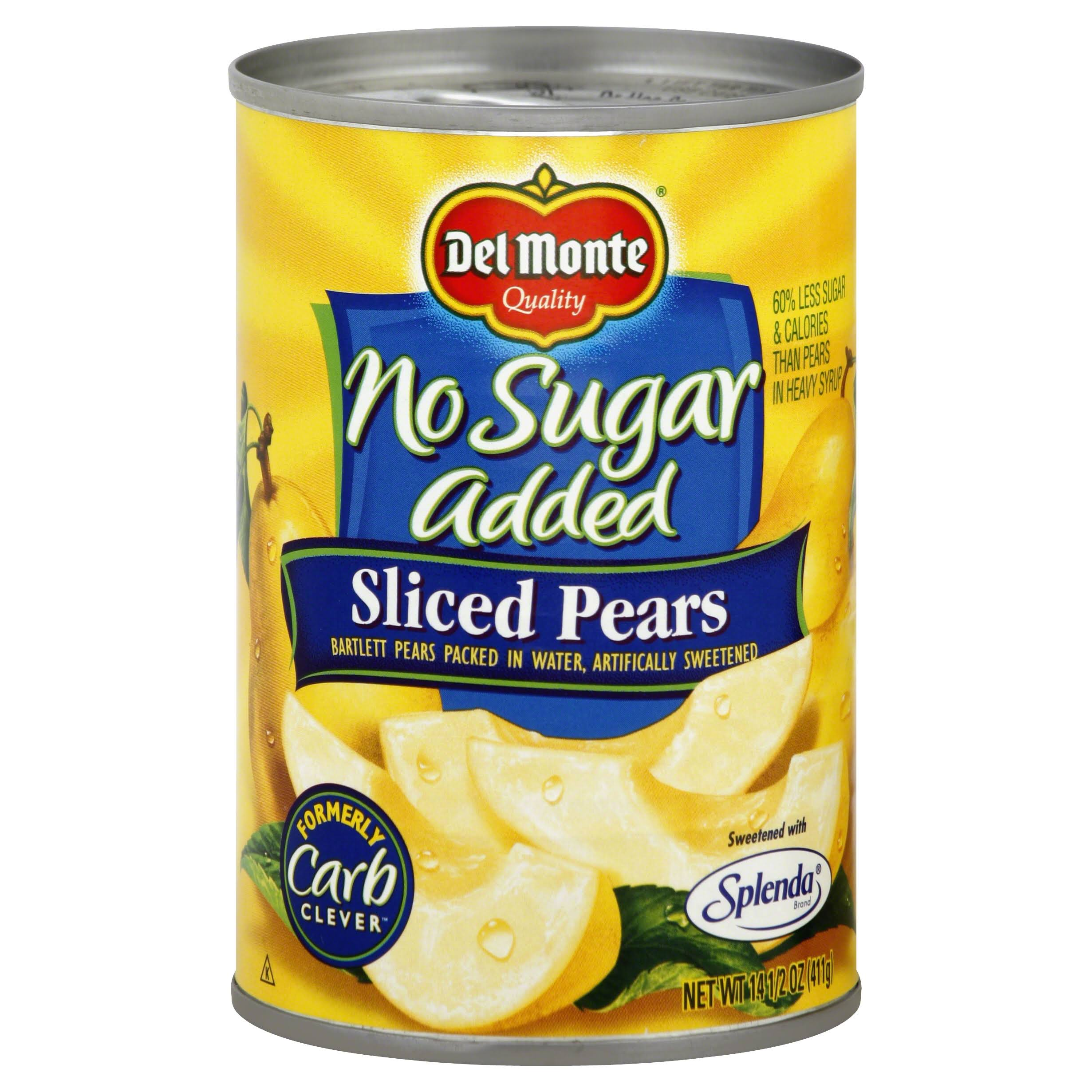 Del Monte No Sugar Added Sliced Pears - 14.5oz