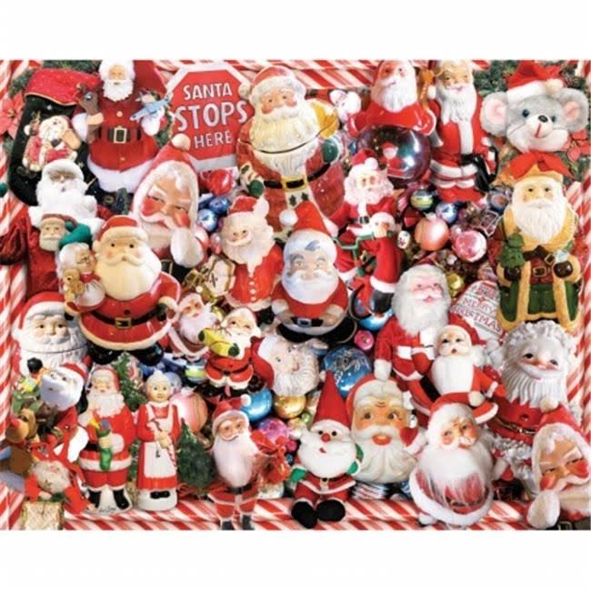 White Mountain Puzzles Crazy Santas Jigsaw Puzzle - 1000 Pieces