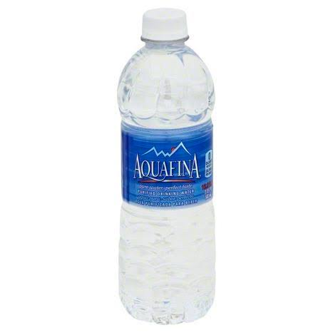 Aquafina Drinking Water, Purified - 16.9 fl oz. (1.05 pt) 500 ml