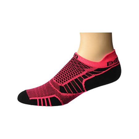 Thorlos Experia Prolite No-Show Tab Socks - Small, Diva Pink/Black