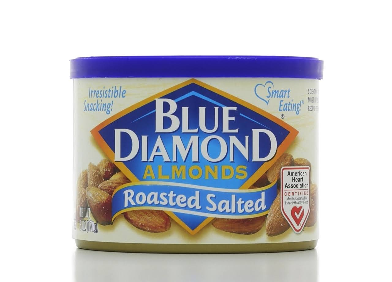 Blue Diamond Roasted Salted Almonds - 6oz