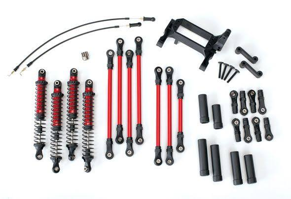 Traxxas TRX-4 Complete Long Arm Lift Kit Red TRA8140R