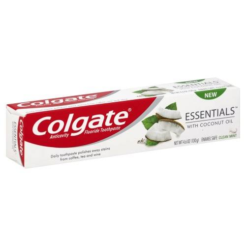 Colgate Toothpaste, Anticavity Fluoride, Clean Mint, with Coconut Oil - 4.6 oz