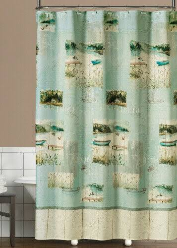 Saturday Knight Lake Retreat Shower Curtain